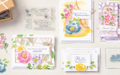Mini-album et cartes avec un kit créatif
