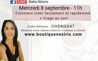 Ateliers en ligne 3 et 8 septembre